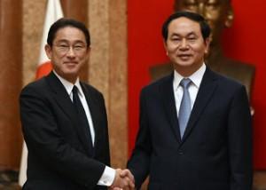 岸田外相、中国・東南アジア4カ国を歴訪 各国との関係構築急ぐ