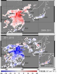 東アジアのNO2汚染レベルが回復傾向 中国は5年前のレベルに