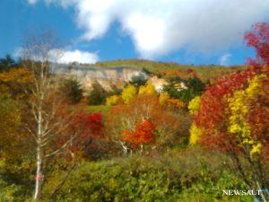 八幡平の紅葉、松川渓谷