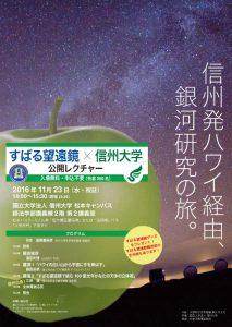 すばる望遠鏡の公開レクチャーを長野と広島で開催
