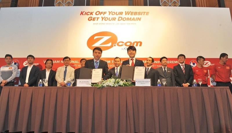 サッカー・ベトナム代表とスポンサー契約 GMO「Z.com」