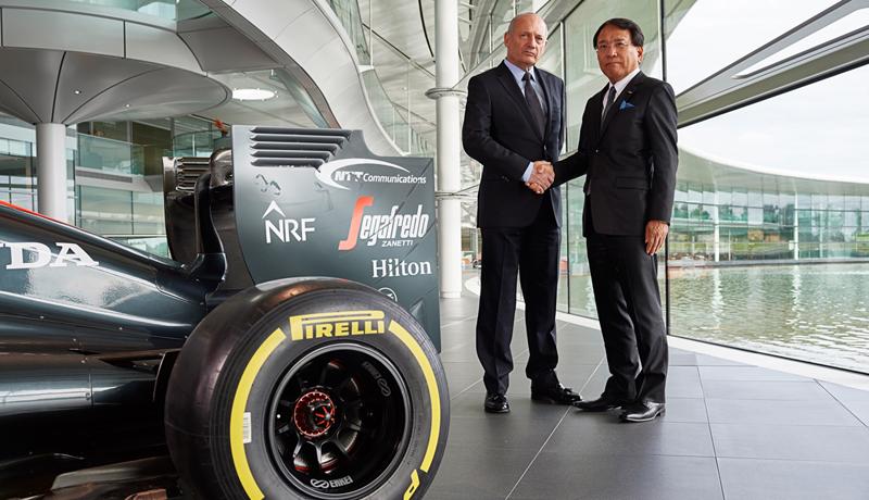 NTT、F1のマクラーレン・ホンダとパートナーシップ締結