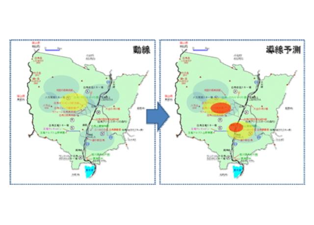 白馬村でAI活用実験 観光客の導線を予測