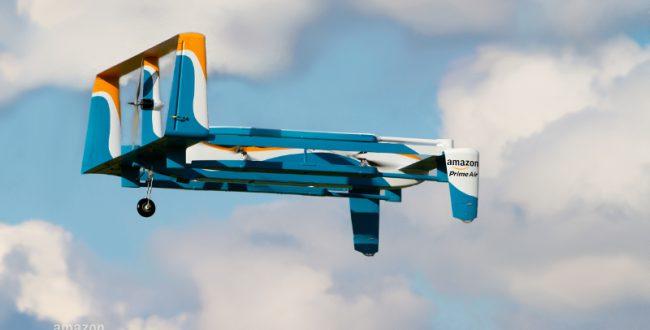 「飛行船倉庫」からドローンで地上に配送 アマゾンが特許取得