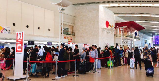 成田空港、海外旅行の帰国ラッシュ