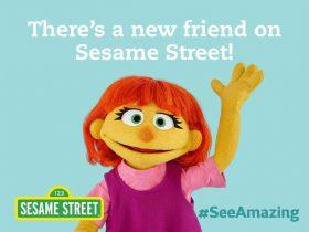 セサミストリートに新キャラクター 自閉症のジュリア
