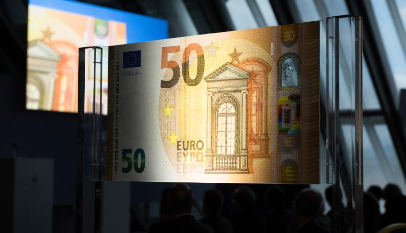 新50ユーロ札発行 ニセ札防止対策万全に