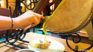 フランス・ストラスブールのチーズレストラン