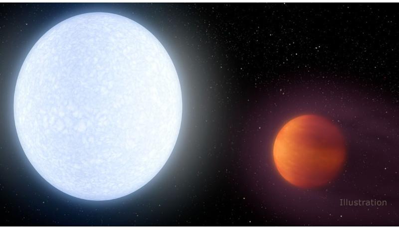 多くの恒星よりも熱い惑星 650光年先に発見