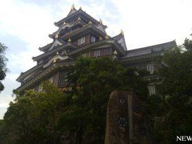 早朝の岡山城と後楽園を歩く
