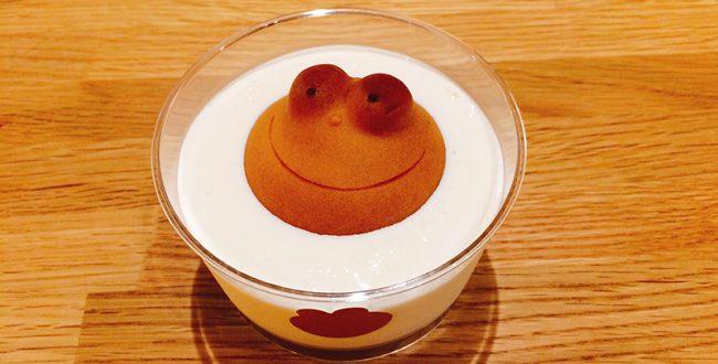 老舗和菓子屋が作る、斬新スイーツ「カエルのミルク風呂」