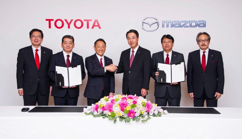 トヨタとマツダが業務資本提携 米国に合弁会社設立へ