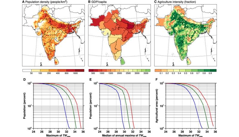 温暖化対策しない場合、2100年には南アジアで人が生存できない可能性