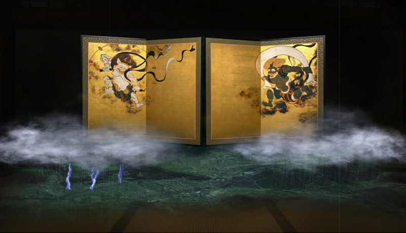 MR技術で「風神雷神図屏風」の世界を体験 京都国立博物館