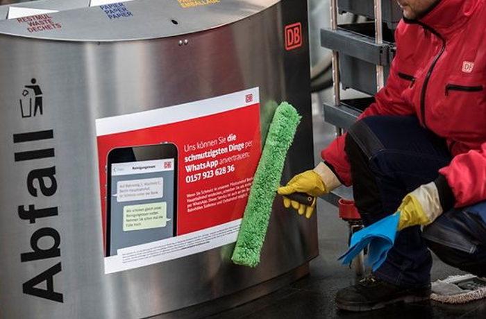 SNS通報で清掃員が出動 ドイツ国内240の駅で