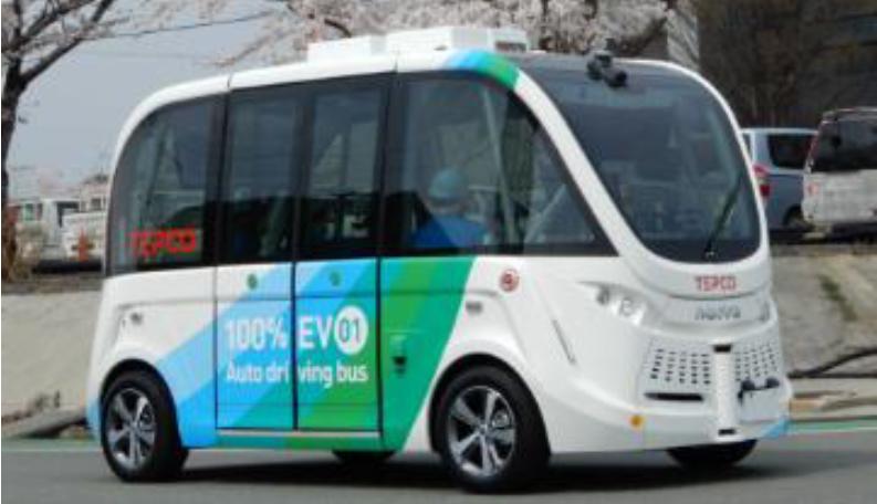 福島第一原発構内で、日本初の自動運転EVバス実用化