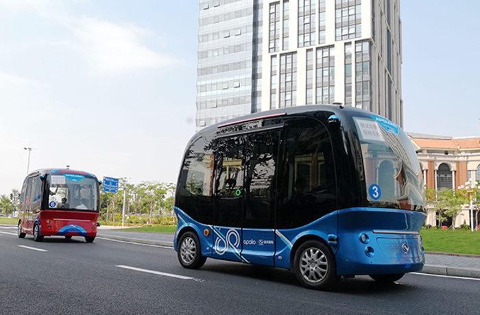 自動運転バスを実用化へ ソフトバンク子会社とバイドゥが協業