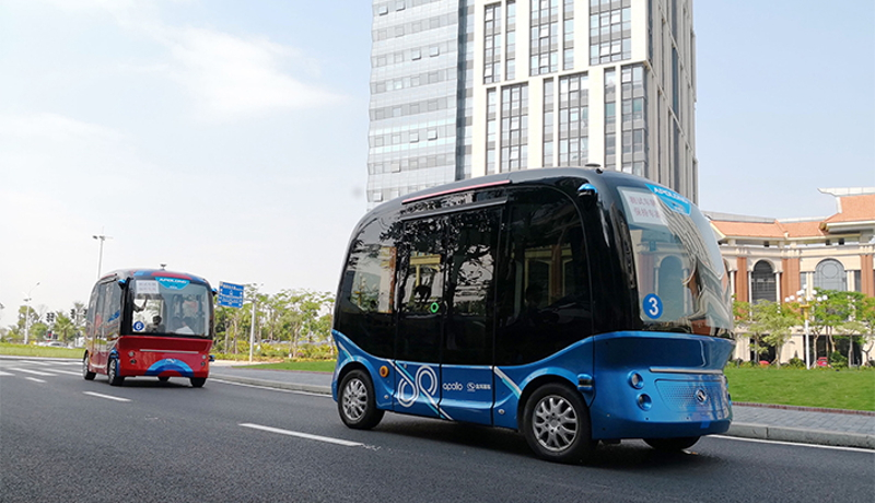 SBドライブ、バイドゥと自動運転バスで協業