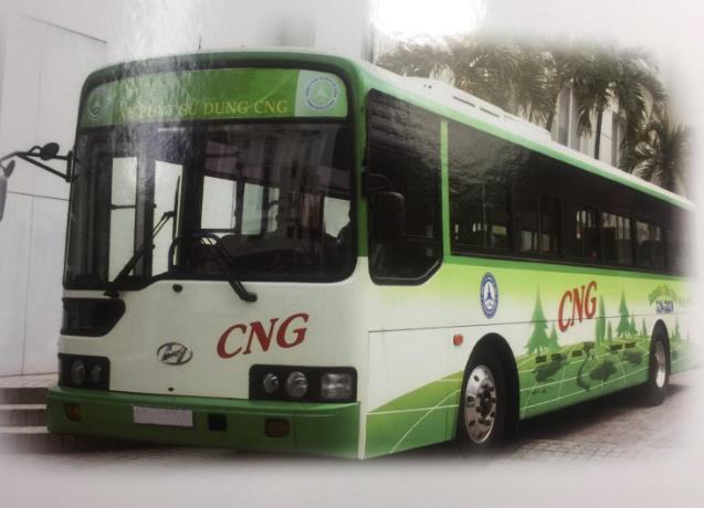 ベトナム・ハノイ 天然ガスで走行するバス正式導入