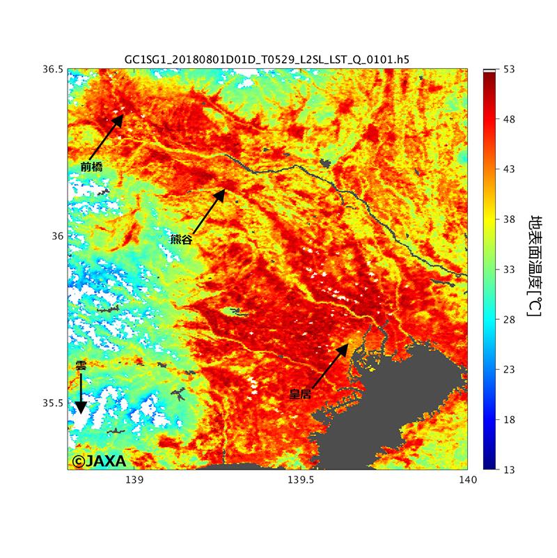 日本の酷暑を宇宙から観測 衛星「しきさい」の画像公開