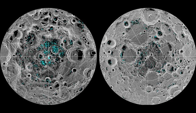 月面に凍った水の存在を確認、重要な資源として期待