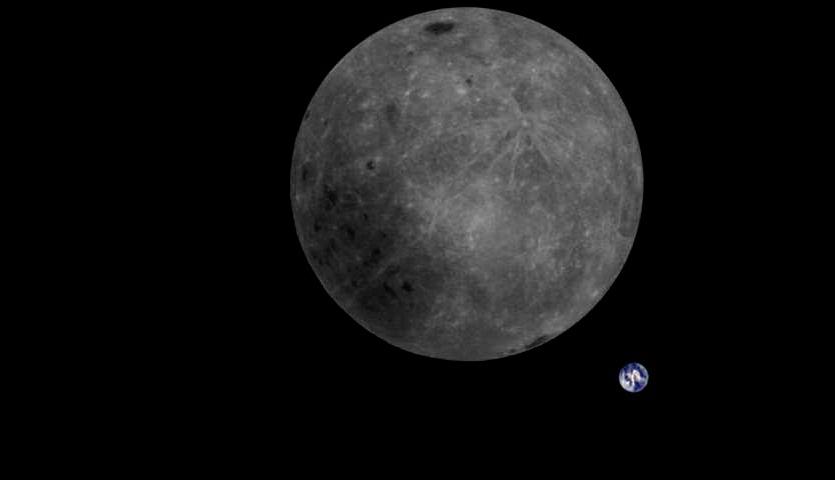 「裏側から見た月と地球」を初めて撮影 中国の月探査用小型衛星