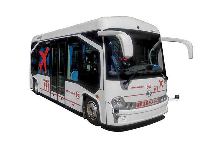 中部国際空港の制限区域内で、自動運転EVバスの実証実験を実施