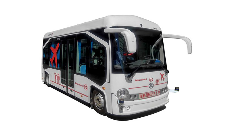 中部国際空港の制限区域内で自動運転EVバスの実証実験を実施