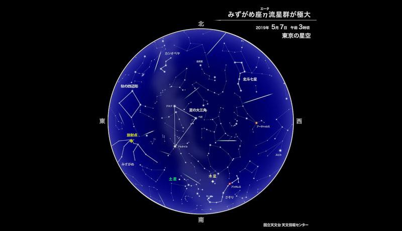 みずがめ座η流星群、ピークは7日明け方2〜3時頃