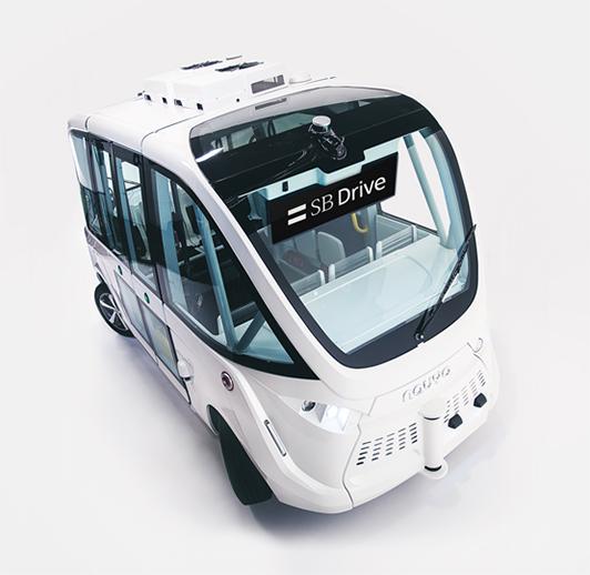 ハンドルのない自動運転バスが公道で国内初の走行実証 ソフトバンク子会社