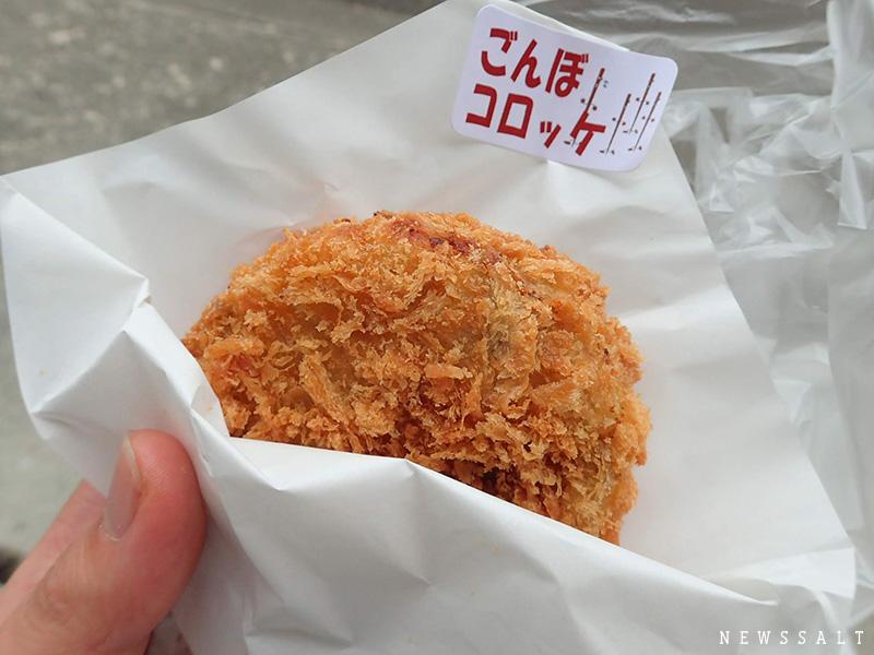 手作りの「ごんぼコロッケ」が人気 二本松市の道の駅「さくらの郷」