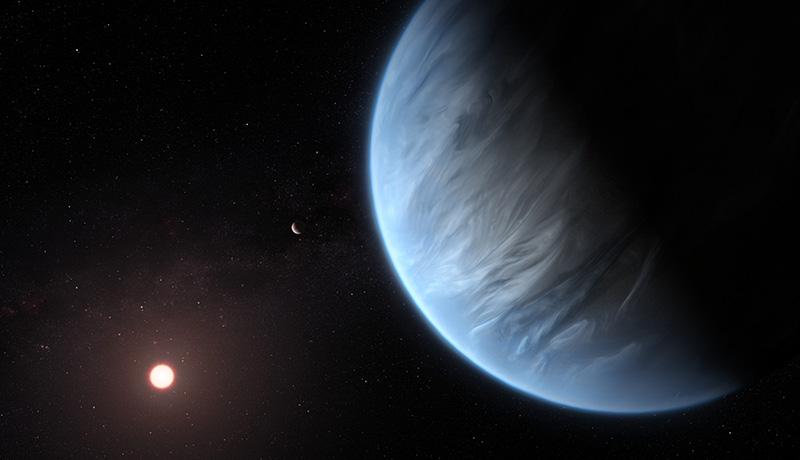 ハビタブルゾーンの地球型惑星大気中に水蒸気を発見