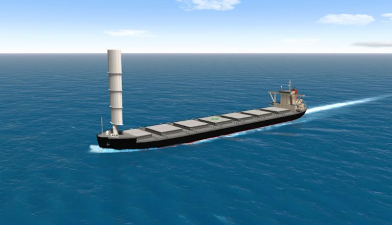「帆」で温室効果ガス削減を 商船三井他が2022年運航開始目指す