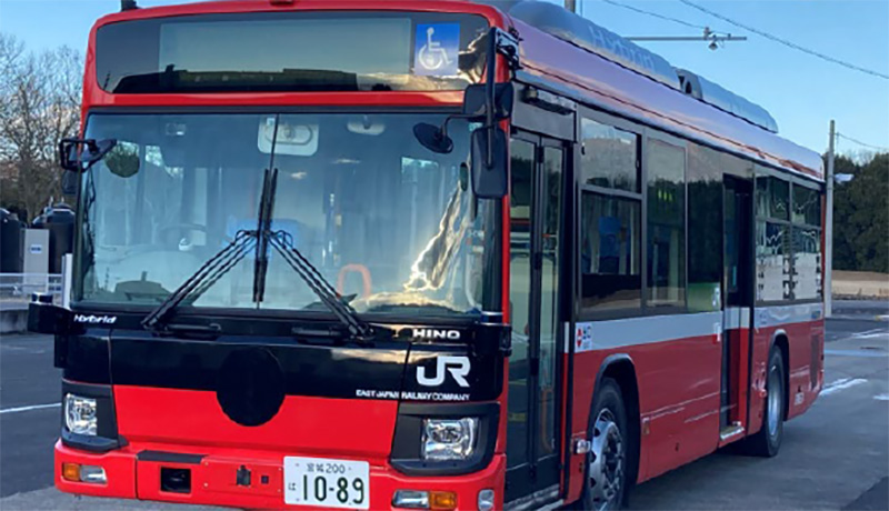 JR東日本のBRT専用大型自動運転バス 気仙沼線で自動運転の走行試験