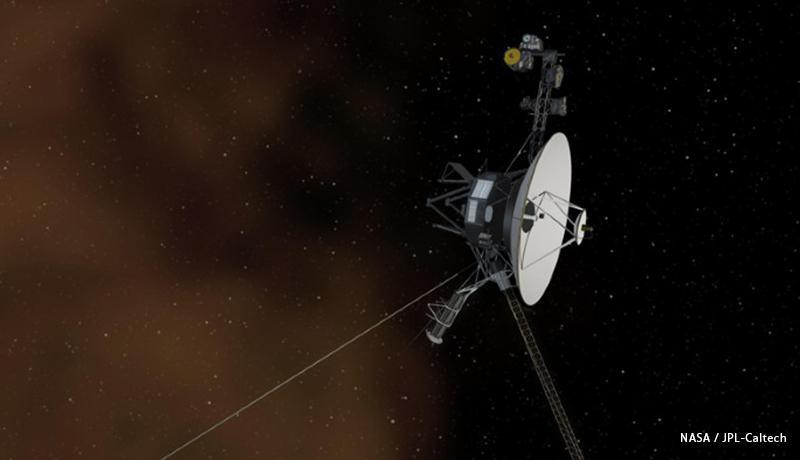 ボイジャー1号が星間空間でプラズマ波の連続した音を検出
